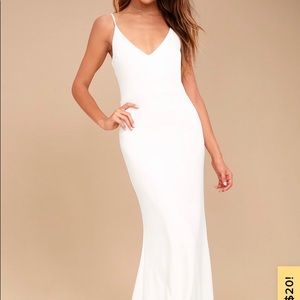 Lulus Infinite Glory White Maxi Dress